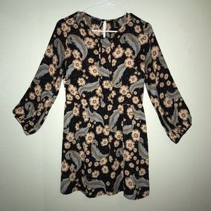 FOREVER 21 black printed dress